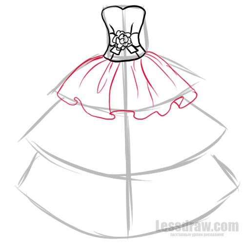 Как нарисовать нарядное платье легко