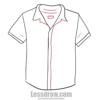 Как нарисовать рубашку
