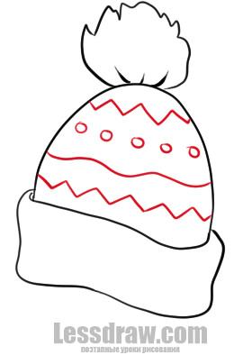 Как нарисовать шапку