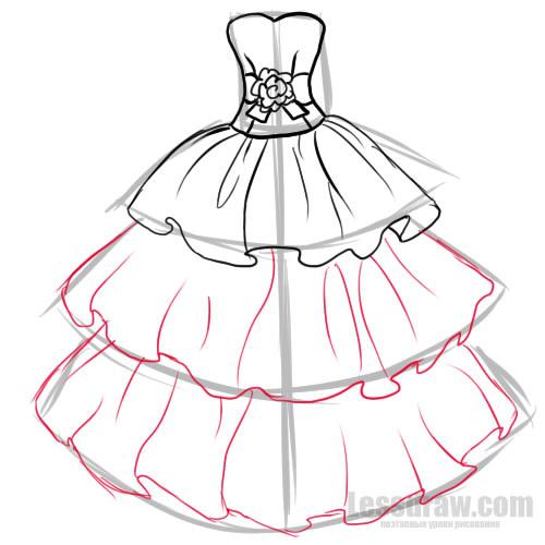 Как нарисовать платья самое красивое