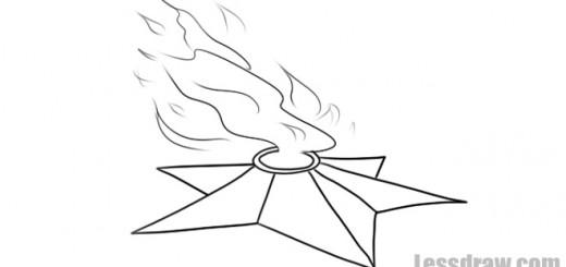 вечный огонь карандашом