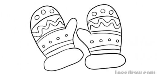 Как нарисовать варежки