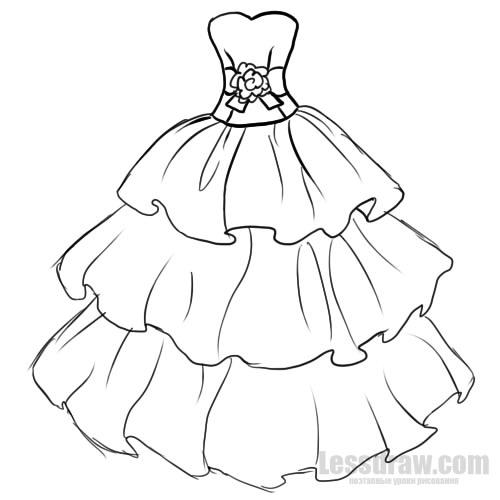 9e2f8e4dff8 Как нарисовать нарядное платье легко