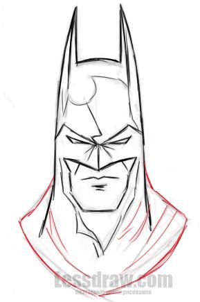 Как нарисовать Бетмена пошагово