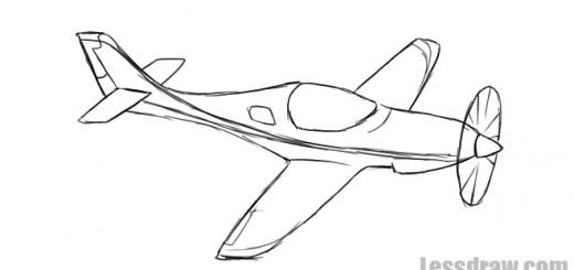 военный самолет рисунок