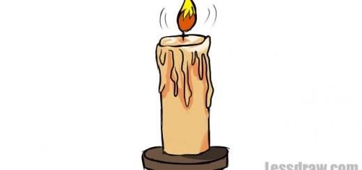 рисунок свечи