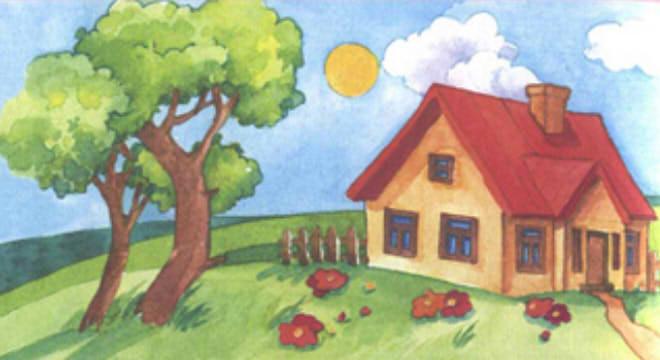 Картинки рисунок лето