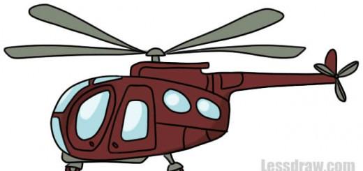 рисунок вертолета
