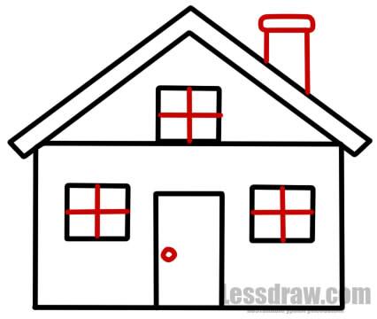 Как нарисовать дом карандашом поэтапно для начинающих