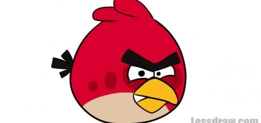как нарисовать красную angry bird