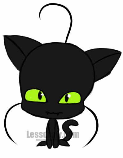 Рисунок кота с мультфильма