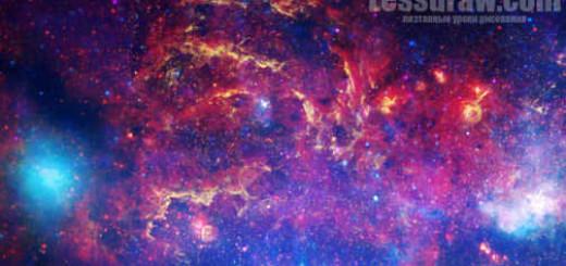 галактика акварель