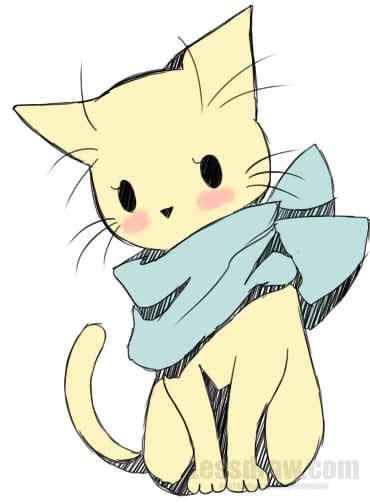 Как рисовать кота в аниме