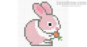 рисунок по клеточкам зайчик