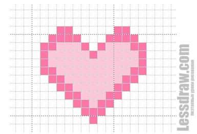 Как нарисовать по клеточкам сердце