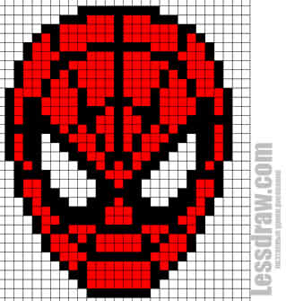 Как нарисовать по клеточкам человека-паука