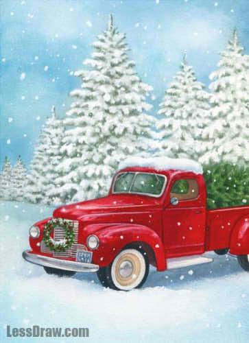 рисунок праздник рождества