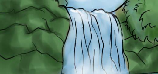 рисунок водопада