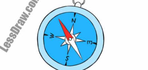 Как нарисовать компас