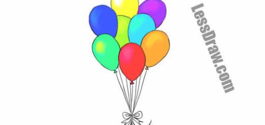 Как нарисовать шарики карандашом поэтапно