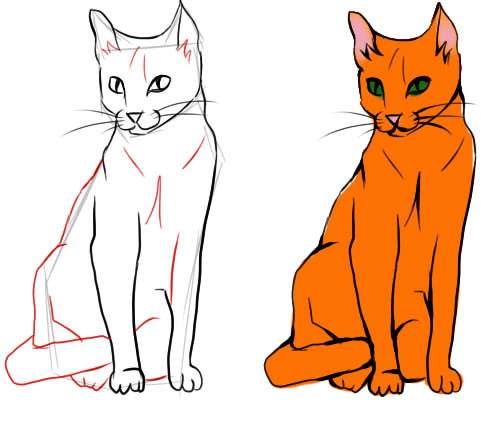 картинки кошки рисунки