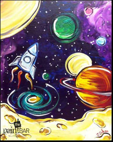 Нарисованные картинки космоса