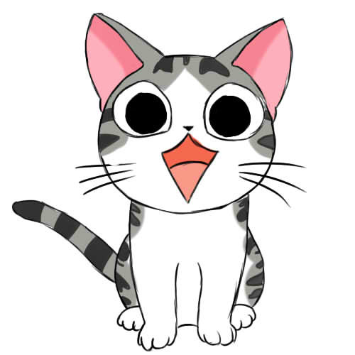 как нарисовать аниме кошку поэтапно