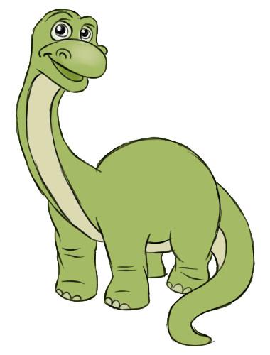 нарисовать динозавра поэтапно ребенку