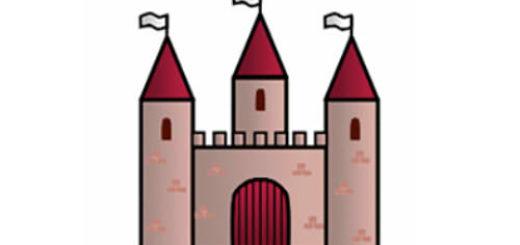нарисовать замок для детей