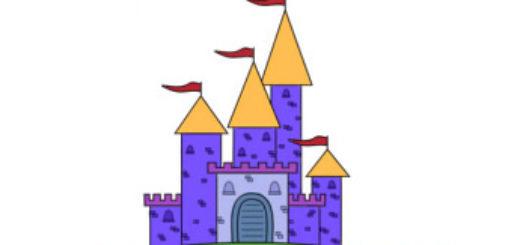 как нарисовать красивый замок