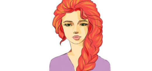 как нарисовать девочку с длинными волосами