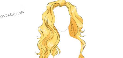 как нарисовать волосы