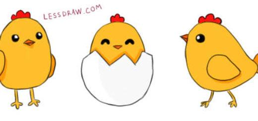 как нарисовать цыпленка