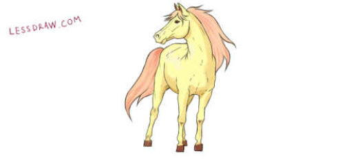 как нарисовать коня